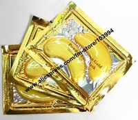 Free Shipping 50pack 100% Quality Guarantee Golden Eye Mask Beauty Salon Eye Mask Crystal Collagen Gold Eye Mask Eyeshield Mask