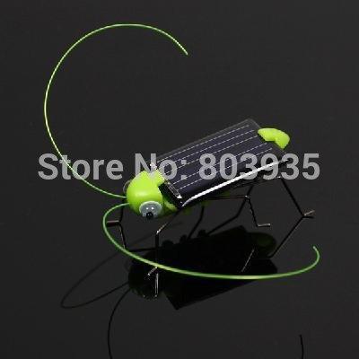 Free Shipping 30psc/lot solar grasshopper, solar locusts, For kids solar toy,solar powered 100% Green gift(China (Mainland))
