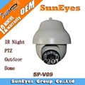 Suneyes IR outdoor constant speed Dome IP Camera support IR Night Vision 40-50M Pan/Tilt/Zoom  SP-V09