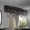 Modern Crystal Chandelier,Black Fabric Lamp,Dinning Room Lamp,YSL-MCL7086,Free Shipping