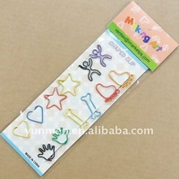 school Supply DKH017-12pcs of shaped paper clips in a paper card