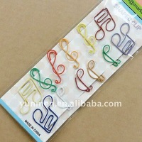 Office Supply DKH010-12pcs of shaped paper clips in a paper card