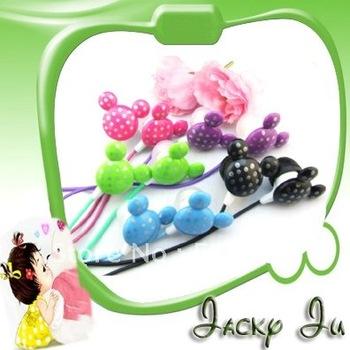 Free Shipping New 3.5mm In-Ear Micky Candy handsfree Earphone Headphone Earplug
