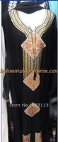 BZ052351 free shipping hot sell high quality 2012 newest embroidered muslim abaya