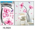 free shipping flower waterproof wall sticker,house decal , 5pcs/lot wholesale free shipping