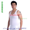 2pcs/lot Zerobodys  Men's Vest Tank Top Body Shaper Girdles Undergarments body shape size S M L XL black  white
