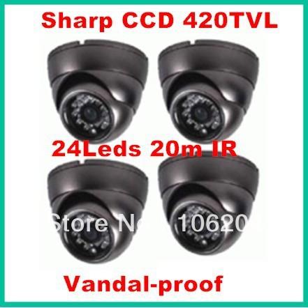 Night vision infrared dome camera Sharp Color CCD 420TVL Board lens 3.6mm mini surveillance cctv camera(China (Mainland))