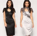 2013 new cocktail party Dresses black lace embroidered dress fashion free shipping dropship