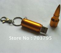 Promotion!!Hotsale 16gb Metal Bullet Shape usb flash drive,swivel usb flash disk,usb memory.free shipping