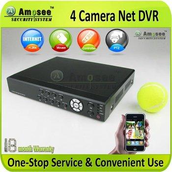 Economical Mini Size 4 Camera DVR H.264 Good Internet speed Multi-language CCTV AMS- H710V