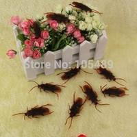 Wholesale 10000pcs/lot , Life-like Fake Roach Blackbeetle Cockroach Trick joke toy April fools day gift FREE SHIPPING