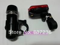 210set/lot(420pcs)Bike Bicycle Torch 5 LED Head Light +5 Tail Rear Lamp