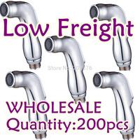 Free Shipping Plastic Shattaf Handheld Bidet shower Head  Muslin Portable bidet  spayer TS078G matt chrome (silver)