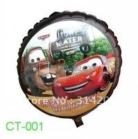 "Fre Shipping! CT-001 Cartoon Design Foil Balloon/ Party Balloon/Holiday Balloon/ Kids Gift- Round Shape -18"", 20pcs/lot"