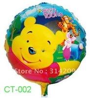 "Free Shipping, CT-002 Cartoon Design Foil Ballon/ Party Ballon/Holiday Ballon/ Kids Gift- Round Shape -18"", 20pcs/lot"