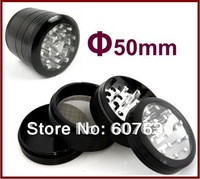 "4pc Metal Herbal Case Grinder 1.9"" For Vaporizer"