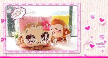 Hot sale Fashion cartoon pillow You laugh monkey love couple three-dimensional cushion plush toy cushion  waist pillow 38*38cm