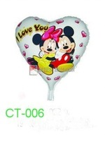 """Free Shipping! CT-006 Cartoon Design-( Micky & Minny) Foil Balloon/ Party & Holiday Ballon- Heart Shape -18"""", 20pcs/lot"""