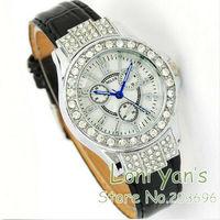 5pcs/lot Women's Crystal Shell wrist Bracelet Ladies Watch Quartz Watch Stainless Steel Wristwatch