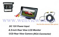 Bus Reverse Camera System with 4.3inch Monitor and Infrared IR CCD camera 24V