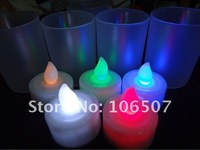 Hot sell 100% quanlity assurances,environmental protection,24PCS  Changing Color Light LED Candle Lamp Wedding party decor