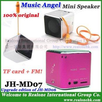 Mini Speaker for Music Player, Portable speaker MUSIC ANGEL speaker box JH-MD07 mini TF card speaker with FM radio+cool quality