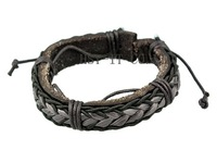 Handmade Men Women Lover Genuine Leather Bracelets Hemp Rope Bracelet Rock Punk Bangles