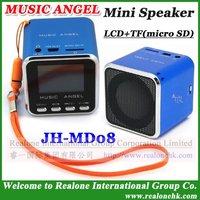 Music Angel Speaker Free Shipping Mini Speaker original MUSIC ANGEL portable speaker JH-MD08 LCD screen speaker read TF+FM radio