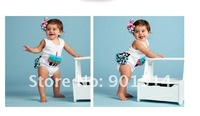 Free shipping Baby birthday cake model romper zebra+lace rompers bodysuits