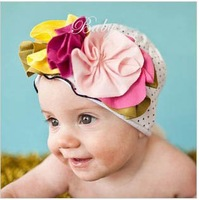 Top Baby hats girls' hat boy's hat headband fashion caps flower beanie caps0704#50pcs