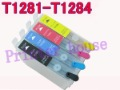 Free shipping T1281 1282 T1283 T1284 Refillable ink cartridge for Epson SX125 SX425W BX305F BX305FW  T1281 T1282 T1283 T1284
