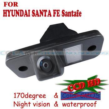wireless wire Car Rear View Backup Camera parking camera for HYUNDAI SANTA FE Santafe Sony CCD parking assistance night vision