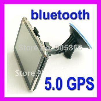 new 5 inch 4GB  Slim  car GPS navigation with Bluetooth FM AV IN