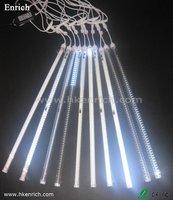 Free Shipping! White Color 100CM 120LEDs Double Sided LED Meteor Rain Light/ LED Meteor Shower Light/ Christmas Light