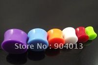 120pcs/lot UV ear plug Acrylic Bone no scew Flesh Tunnel ear protector big size body jewelry mixed colors free shipping