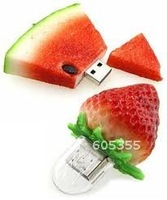 Christmas Gift Watermelon & Strawberry USB Flash Memory Drive, Hot Selling, Free Shipping!