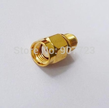 Adapter RP.SMA Male jack To SMA female Connector straight gold plating