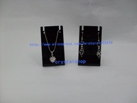 Wholesale Free Shipping 80 Black Acrylic Necklace Earring  Pendants  Jewelry Display  Stand Holder Showcase