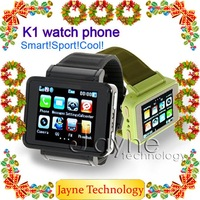 free shipping ! Watch Phone K1,GSM quad-band,bluetooth+1.3mp camera,FM,mp3,MP4,flash light,compass software