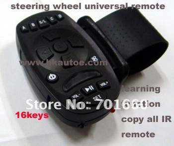 Universal Car Kit Steering Wheel Infrared Remote Control with Learning Function Replicable   ATU001