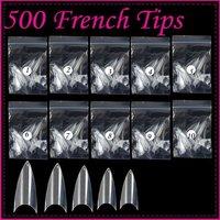Wholesales Price Freeshipping 500 Nail Art Acrylic Fake French Nail Tips Clear F296