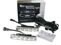 Free shipping 12V/10W  5 LEDS DRL,LED auto daytime running light E4-mark 1pair/set