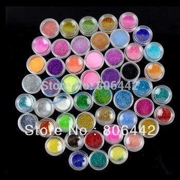 50 Color Nail Art Glitter Powder / nail art glitter dust / nail decoration