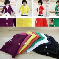 Free shipping 1pcs/lot jelly colors Spring clothes,Long sleeve shirt,Children's coat ,baby wear