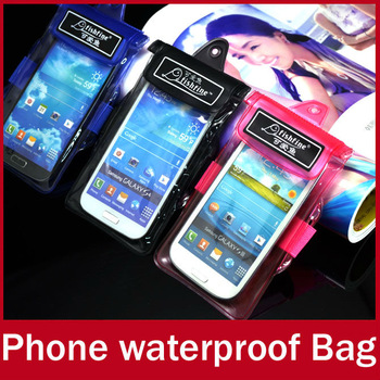 2pcs/lot Outdoor Travel Mobile Phone Waterproof Bag Wet Dry Beach Pouch Case For Samsung Galaxy S4 S3 and For iPhone 5S 5 4S 4