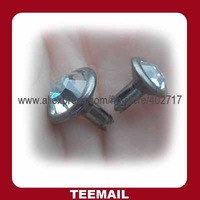 stock crystal metal rivet for garment accessories and belts in wholesale