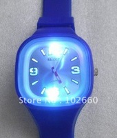 100pcs/lot new jelly watch bracelet watch 2011 fresh new design fashion sports watch, square jelly silicone watch,luminous watch