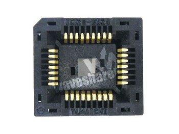 PLCC32 IC120-0324-009 PLCC Yamaichi IC Test Burn-in Socket Programming Adapter 1.27Pitch Dead-bug