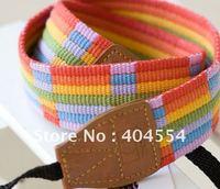 Free Shipping Universal Rainbow Design Camera Shoulder Strap Belt Tape For Canon Nikon Sony Pentax Panasonic Olympus