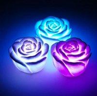 Free shipping wholesale 15pcs LED 7 colors rose night light